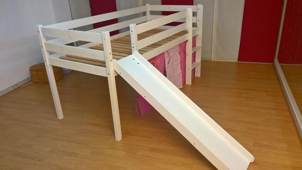 Halbhochbett / Kinder-Hochbett mit Rutsche in Surberg - Betten ... | {Kinderhochbett mit rutsche 51}
