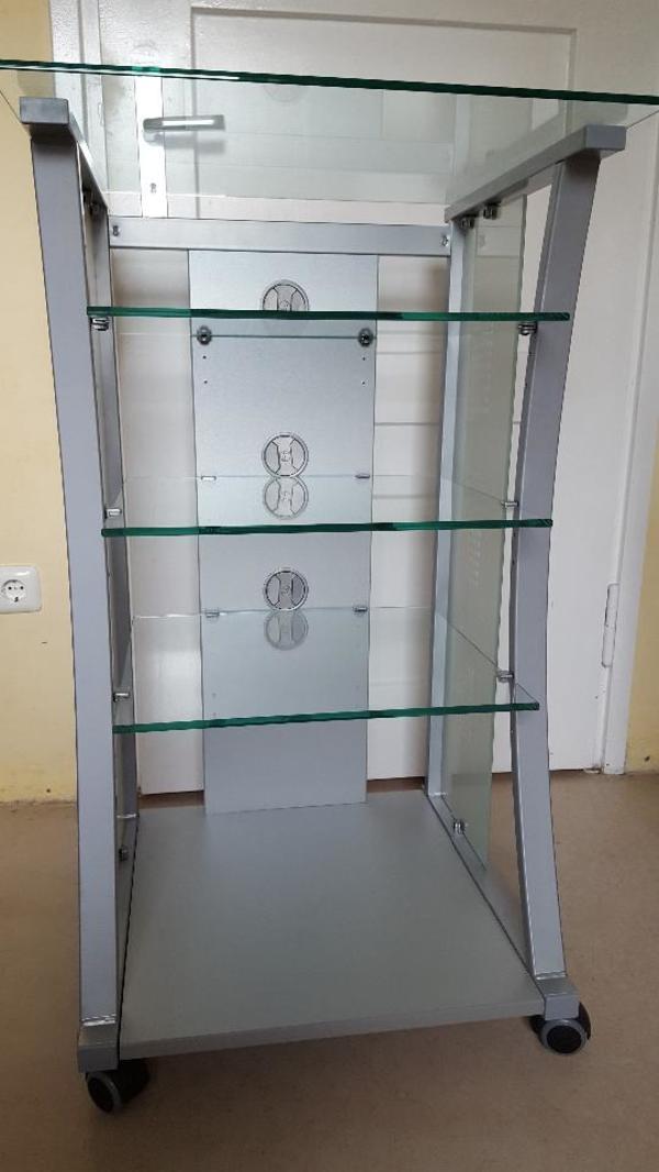 hifi m bel rack regal tisch alu glas in m nchen phono. Black Bedroom Furniture Sets. Home Design Ideas