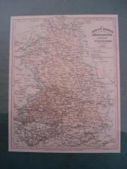 Historische Karte Der Jagst-Kreis und