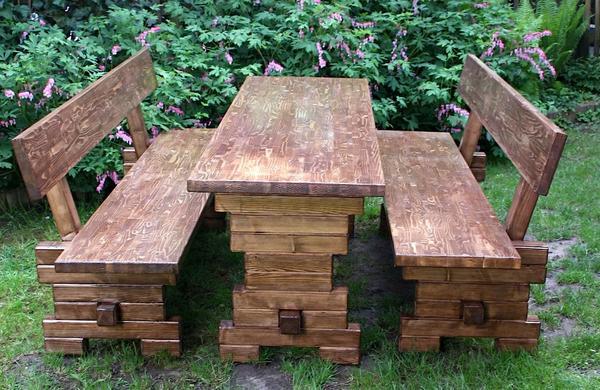 holz gartengarnitur gartenm bel massivholz modern neu. Black Bedroom Furniture Sets. Home Design Ideas