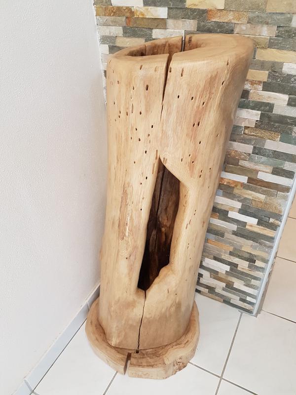 Holzstamm lampe designerst ck aus 100 handarbeit in - Holzstamm lampe ...