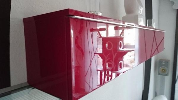 ikea besta burs cd dvd wand regal in rot hochglanz top zustand in r merberg ikea m bel kaufen. Black Bedroom Furniture Sets. Home Design Ideas