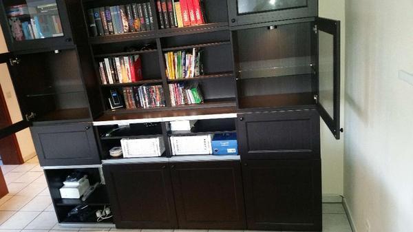 IKEA BESTA komplette schwarzbraune Schrankwand/Bücherwand/Wohnzimmerschrank in Heddesheim ...