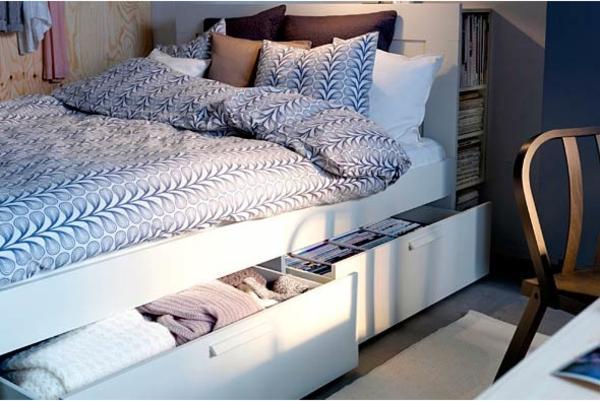 ikea brimnes bett 140x200cm mit schubladen in hamburg betten kaufen und verkaufen ber. Black Bedroom Furniture Sets. Home Design Ideas