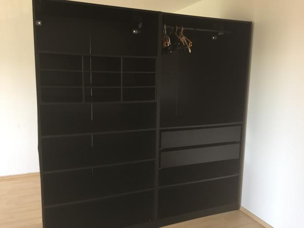 ikea pax schrank schwarz ohne t ren in m nchen schr nke sonstige schlafzimmerm bel kaufen und. Black Bedroom Furniture Sets. Home Design Ideas