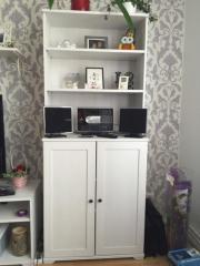 Ikea Wohnzimmer, Vitrine, Schrank, Sideboard, Regal, Weiß In ... Ikea Wohnzimmer Wei