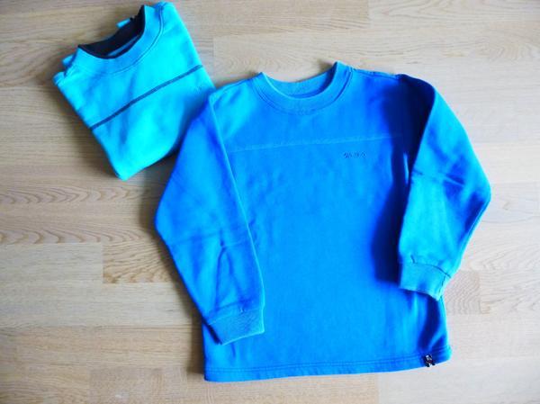 jako o Sweatshirts langarm einfarbig - Unterhaching - 2er Pack Sweatshirts in den Farben mittelblau und türkis. - Unterhaching