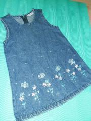 Jeans Kleid Sommerkleid Mädchen Gr