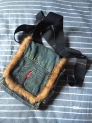 Jeanstasche mit Fell,