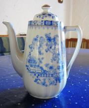 Kaffeekanne China blau