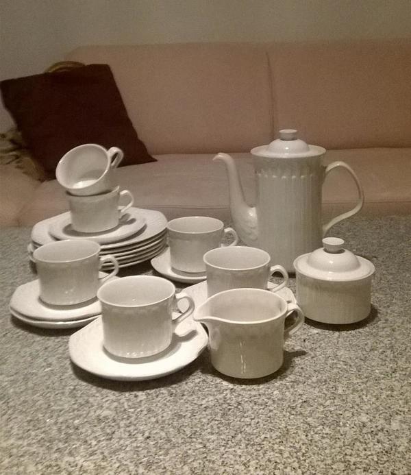 Kaffeeservice weiß » Geschirr und Besteck