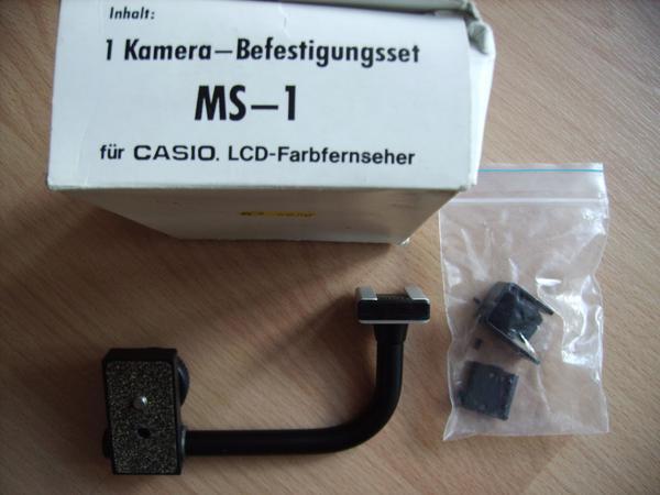 """Kamera-Befestigungsset """"MS-1"""" für CASIO LCD-Fernseher - Bremen Borgfeld - Kamera-Befestigungsset """"MS-1"""" für CASIO LCD-Fernseher; unbenutzt; Originalkarton; 4,00 Euro - Bremen Borgfeld"""