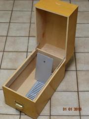 Karteikasten DIN A4 aus Holz
