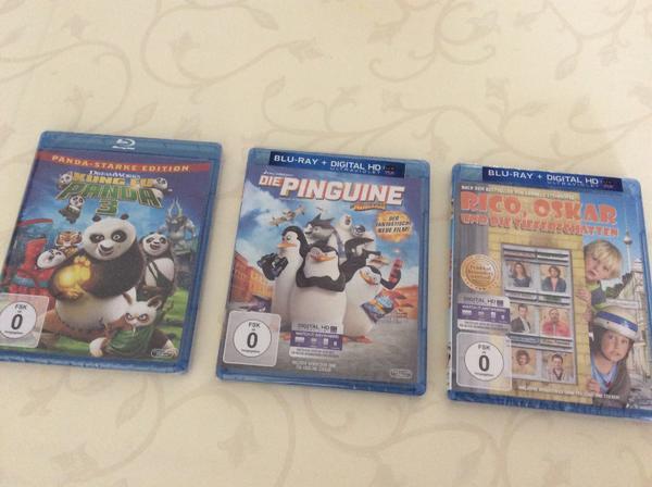 Kinder DVD Filme, Kung Fu Panda 3, Die Pinguine, Rico Oscar (neu) - Karlsdorf-neuthard Neuthard - Alle DVDs sind noch original verpackt und somit neu.Der Preis für jede DVD ist 6 EUR, alle 3 DVDs zusammen für 15 EUR - Karlsdorf-neuthard Neuthard