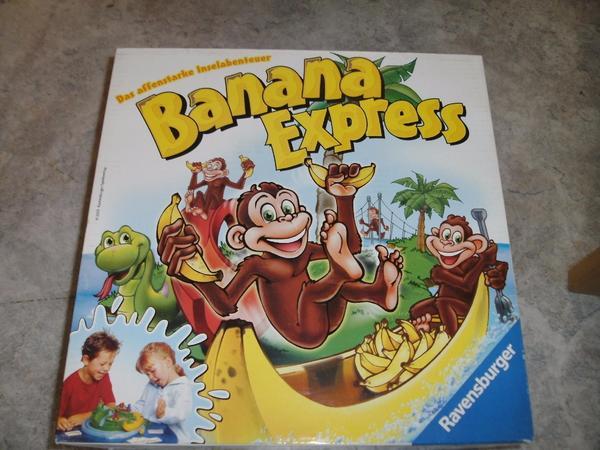 Kinderspiel Spiel 216787 Banana Express Ravensburger Affe Insel Inselabenteuer Palme Affen spielen - Heidelberg - Verkaufe das Kinderspiel Banana Express von Ravensburger - 2176874 - 8 JahreDas affenstarke InselabenteuerDas Spiel ist gebraucht und befindet sich in einem sehr guten - neuwertigen - Zustand. Der Karton hat leichte Gebrauchsspuren. Das Spiel - Heidelberg