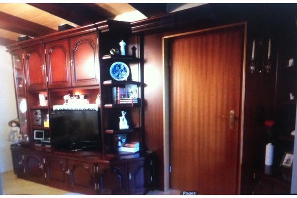 komplettes wohnzimmer mahagoni mit schrankwand vitrine sitzgruppe