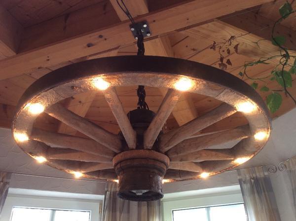 Elegant Speichenrad Holz Halogen In Burgebrach Lampen With Aus Selber Bauen