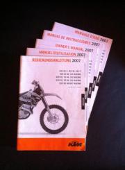 KTM Bedienungsanleitung 2007 250 400