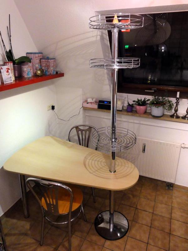küchentisch mit ablageflächen und 2 stühle buchedekor in nürnberg ... - Küche Tisch
