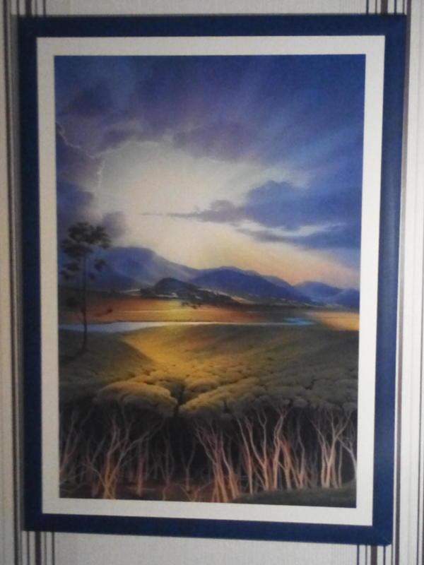 Kunstdruck Flußaufwärts von » Kunst, Gemälde, Plastik