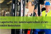Lagerhelfer mit Gabelstaplerschein (