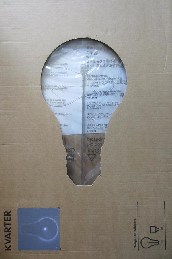 Lampe Ikea KVARTER, sieht aus wie eine große Glühlampe. - München - Lampe Ikea KVARTER, sieht aus wie eine große Glühlampe. - München