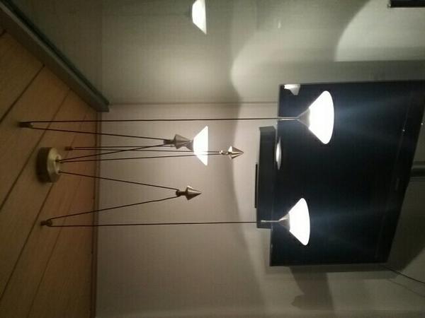 Lampe Milchglas Messing Lampen