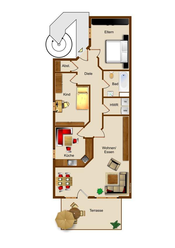langerwehe eigentumswohnung mit sonnenterrasse und garten inklusive stellplatz in ruhiger lag. Black Bedroom Furniture Sets. Home Design Ideas