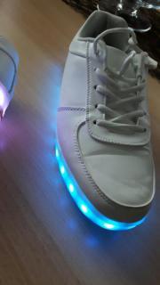 LED Schuhe weiss
