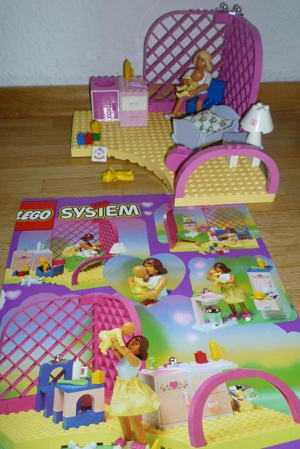 lego belville 5860 babyzimmer, kinderzimmer mit baby und mutter