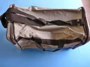 Leichte Reisetasche beige dkl braun