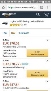 Lenkrad von Logitech