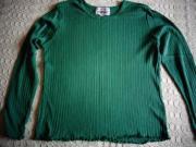 Mädchenbekleidung Shirt Rippenshirt grün Gr