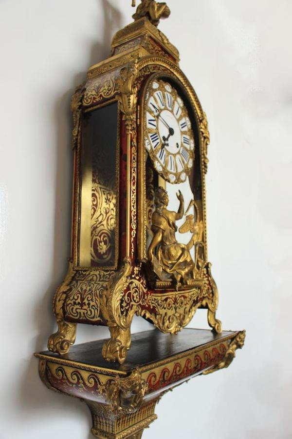 monumentale original antike pendule kaminuhr boulle uhr. Black Bedroom Furniture Sets. Home Design Ideas