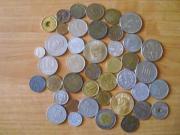 Münzen und ausländische Geldstücke