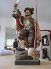 Nachtwächter Holzfigur geschnitzt