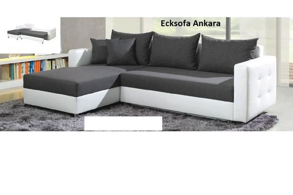 neu ecksofa eckcouch ankara sofa couch mit bettfunktion. Black Bedroom Furniture Sets. Home Design Ideas