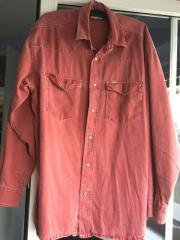 Neuwertiges Langarmhemd in rot Gr