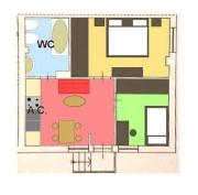 Niedliche 60m²-Wohnung