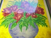 Ölgemälde Blumen in Vase unbekannter
