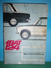Oldtimer - Betriebsanleitung - Fiat 124