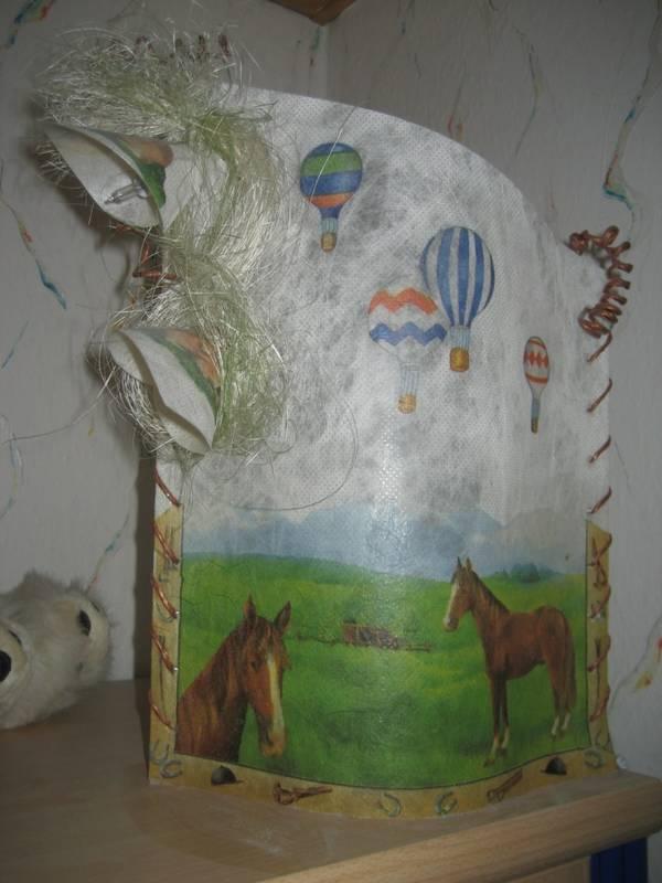 Pferde Lampe Memobord Schreibtischunterlage Briefpapier
