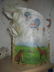 Pferde Lampe Memobord Briefpapier Spitzer
