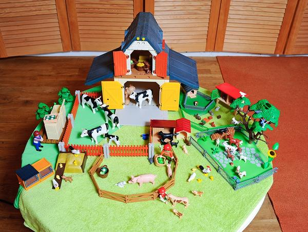 playmobil bauernhof in baierbrunn  spielzeug lego