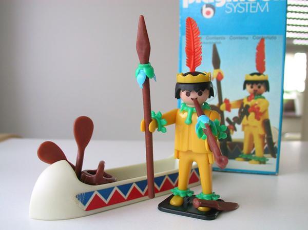 Playmobil Klicky Indianer mit Kanu
