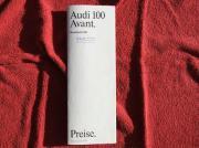 Preisliste Audi 100 Avant vom