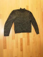 Pullover Gr M schwarz gold