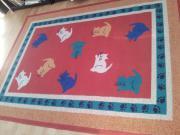 Roter Teppich mit