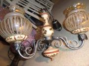 Rustikale Lampe, Lüster,