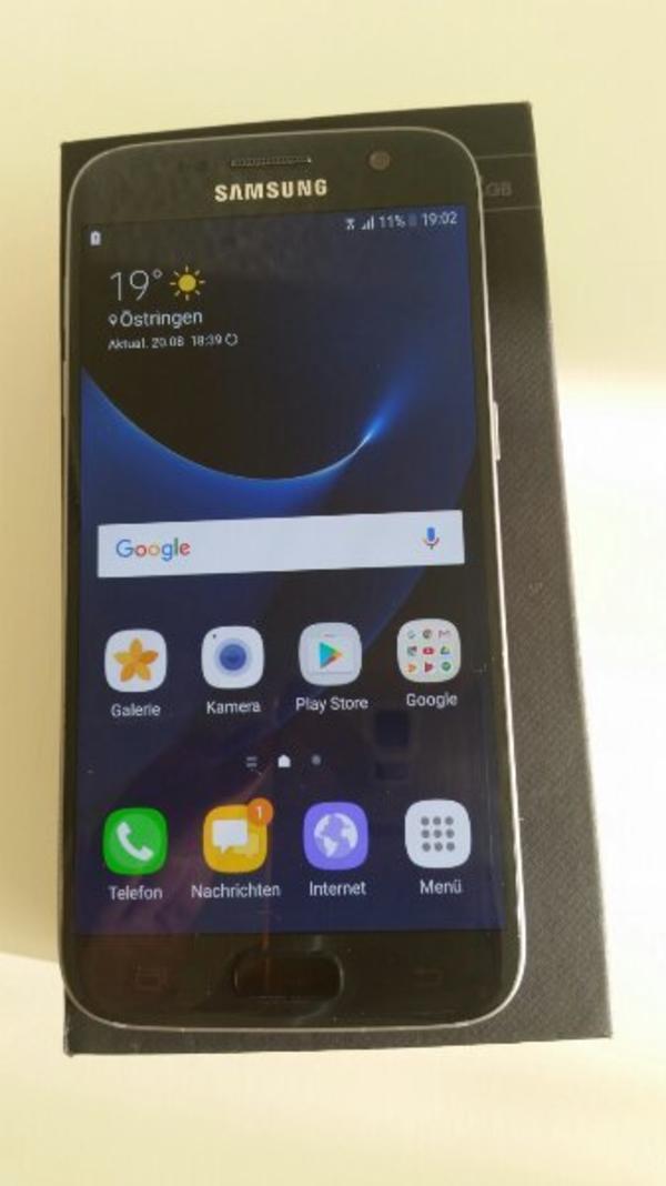 Samsung galaxy s7 mit Rechnung und garanti - östringen - Samsung galaxy s7 top Zustand. Mit Rechnung noch über ein Jahr garanti funktioniert einwandfrei simloockfrei.mit ovp und Ladegerät Kopfhörer und eine hülle. Kann vor Ort getestet werden.privat verkauf. - östringen